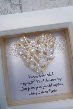 Ein schnes selbstgemachtes Geschenk zum 30 Hochzeitstag