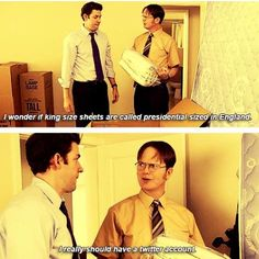"""The Office. I wish they included that Dwight says """"Tweeter"""" instead of Twitter"""