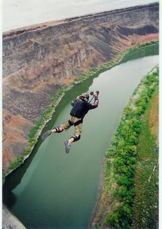 x Base Jumping:  Twin Falls, ID Butterflies In My Stomach, Twin Falls, Base Jumping, Learn To Fly, Idaho, Diving, Golf Courses, Heaven, Clouds