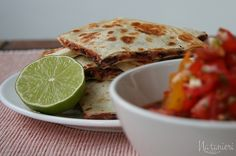 Quesadillas with tomato salsa