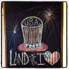 Independence Day\ Fourth of July chalkboard