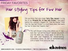 """Did you know that pop singer Carly Rae Jepsen is a big fan of our Wizards No. 14 Sea Salt Primer? The culprit behind this summer's biggest hit, """"Call Me Maybe,"""" f  inds that the Sea Salt Primer is a must-have when she wants her hair to have that """"beachy feel.""""    https://www.facebook.com/photo.php?fbid=10151283005187150=a.433744957149.224760.61456542149=1"""