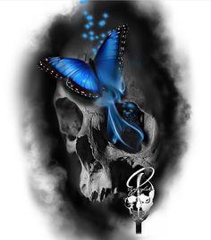 Skull Tattoo Design, Tattoo Sleeve Designs, Skull Design, Sleeve Tattoos, Skull Tattoo Flowers, Skull Rose Tattoos, Body Art Tattoos, Tattoo Sketches, Tattoo Drawings