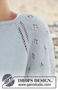 knitting designs Rivage / DROPS - Free knitting patterns by DROPS Design Sweater Knitting Patterns, Crochet Blanket Patterns, Knitting Designs, Knit Patterns, Free Knitting, Knitting Projects, Baby Knitting, Drops Design, Crochet For Kids