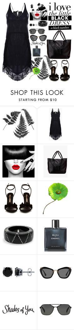 """black dres"" by jecakns ❤ liked on Polyvore featuring Sophia Webster, Hattie Carnegie, Alexis Bittar, Chanel, BERRICLE, Miu Miu, Prada, modern, Genuine_People and blackdres"