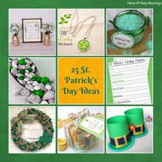 A round up of 25 St. Patrick's Day ideas. Crafts, decor, printables, recipe ideas, and much more. From last weeks Inspire Me Linky Party links. Stop over to see if you were featured and link up your new blog posts!!