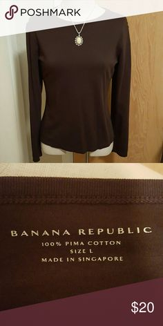 Brown Banana Republic Top Super comfy and soft long sleeve top  Bundle 3 or more items and save 10% Banana Republic Tops Tees - Long Sleeve