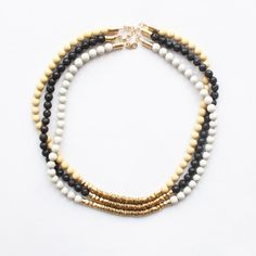 Layered Metal and Gemstone Necklace - The Vamoose :: UK