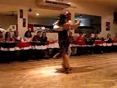 Argentine Tango/Milonga--Amazing! A fantastic performance of Argentine Tango - bodies close embraced, feet moving in time. It's hypnotic.