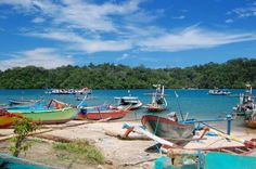 Sendang Biru Beach in Malang, East Java, Indonesia