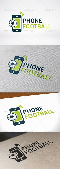Football Phone  - Logo Design Template Vector #logotype Download it here: http://graphicriver.net/item/football-phone-logo-template/7954371?s_rank=1130?ref=nexion