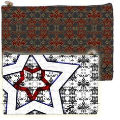 Patriot Royal Star Paisley by iFondu Cosmetic Clutch | FonduLifeStyle - Bags & Purses on ArtFire