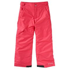 Girls 4-16 Columbia Outgrown Sled Now Talk Later Snow Pants, Size: Medium, Light Red