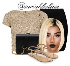 """""""Classy B**ch"""" by sariahbolian ❤ liked on Polyvore featuring Zizzi, Alice + Olivia, Mulberry and Accessorize"""