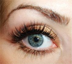 Bronze liner looks great with green eyes (: