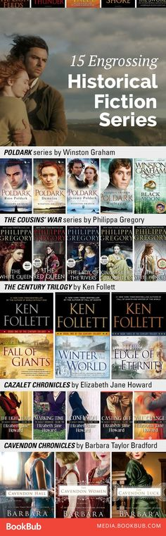 15 Historical Fiction Series You Won't Be Able to Put Down These great historical fiction books will transport you through the centuries from Norway to the American Revolution to World War II. Up Book, Book Nerd, Book Suggestions, Book Recommendations, Reading Lists, Book Lists, Good Books, Books To Read, Big Books