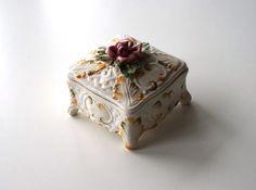 Scatola Ceramica Bassano portagioie vintage in di RosaGeranio