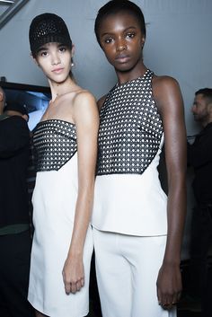 Shard sequin detailing underneath and sculpted silhouettes stood-out at #MariosSchwab's show. #LFW #SS14 #Topshopsupport