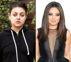 Mila Kunis. On left: walking in Hollywood on Dec. 12, 2012. On right: attending the Ted premiere in Hollywood on June 21, 2012.