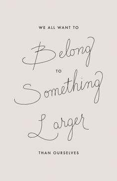 belong
