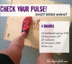 I have been meaning to share another another CrossFit inspired running workout with you for months now.