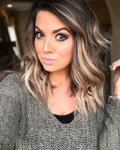 Are you going to balayage hair for the first time and know nothing about this technique? We've gathered everything you need to know about balayage, check! Medium Hair Styles, Curly Hair Styles, Brown Blonde Hair, Blonde Fall Hair Color, Brunette With Blonde Highlights, Blonde Highlights On Dark Hair, Fall Highlights, Brown Eyes Hair Color, Highlighted Hair For Brunettes