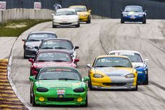 The race series composed entirely of tiny roadsters is the gorilla of club racing in America. Rx7, Mazda Miata, Mazda Roadster, Sports Car Racing, Most Popular, Cool Photos, America, Club, Cool Stuff
