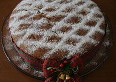 Vasilopita - Traditional Greek cake that is cut at midnight New Year's eve. Greek Sweets, Greek Desserts, Greek Recipes, Xmas Food, Christmas Sweets, Christmas Cooking, Vasilopita Recipe, Cake Cookies, Cupcake Cakes