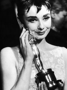 Audrey Hepburn photographed by Ralph Morse at the 26th Annual Academy Awards held at the RKO Pantages Theatre on Thursday, March 25, 1954.