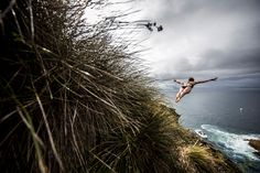 Azores, Portugal       In this handout image provided by Red Bull, Ginger Huber of the United States dives from a 20-meter cliff during the first round of the fifth stop of the Red Bull Cliff Diving World Series on July 17 at Islet Franca do Campo.