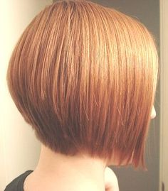 Gently-tapered inverted bob.