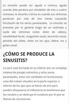 Tipos de sinusitis ¿Cómo se produce la sinusitis? Paranasal Sinuses, Grief, Health