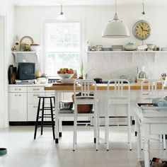 I'll Never Look at My Kitchen the Same Way Again on Food52 Sol Sombre, Thomas O'brien, Luxury Bath, Design Studio, Marble Countertops, Granite, White Tiles, Cuisines Design, Painting Cabinets