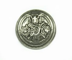 Hunter Emblem Metal Buttons , Nickel Silver Color , Shank , 0.87 inch , 10 pcs by Lyanwood, $6.00