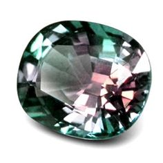 Alexandrite - either purple or green depending on whether it is viewed in natural or artificial light