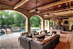 18 Stunning Patio Design Ideas in Tuscan Style – Style Motivation - Modern Rustic Outdoor Kitchens, Outdoor Kitchen Design, Patio Design, House Design, Budget Patio, Cabana, Mediterranean Home Decor, Tuscan Decorating, Decorating Office