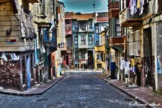 Old And Colorful - Balat District, Istanbul. HDR version.