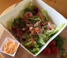 #insalata nr 45 Billo: misticanza, salmone, tonno, gamberetti, salsa rosa