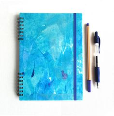 Turquoise Indian ocean. Hardcover notebook by kinmcuadernos