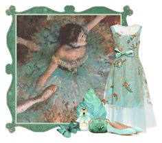 """""""Ballet d'Edgar Degas - French Master Mimicry"""" by flowerchild805 ❤ liked on Polyvore featuring Oscar de la Renta, Annick Goutal, Alexis Bittar and Chloé"""