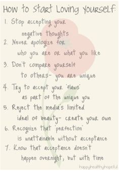 how to start loving yourself