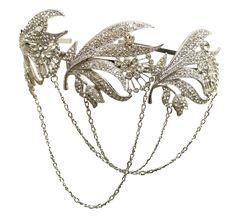 Gatsby Style Vintage Art Deco Crystal Chain Bridal Headband