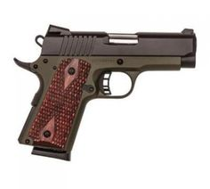 M-1911 CERAKOTE - OD GREEN CERAKOTE FRAME w/HOGUE® BLACK GRIPS & BLACK SLIDE•Semi-auto •Ceramic coating provides an attractive finish, offers durable protection against corrosion, is impact-r