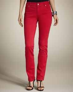 So slimming #jeans! #feelgoodfashion (via @A Whole Lotta Love Chico's http://www.chicos.com) Love my red slimming jeans!cause red and leopard are made for each other!