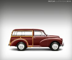 At Firstcar I create personalized car illustrations. Motor art gifts for those hard to buy for friends and relatives or collections for the car fanatic. Morris Traveller, Vintage Cars, Antique Cars, Motos Vintage, Classic Cars British, Woody Wagon, Morris Minor, Classy Cars, Pedal Cars