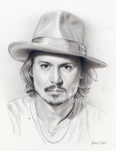 Pencil Portrait Mastery - Pencil Drawing Of Johnny Depp....By Rondawest - Discover The Secrets Of Drawing Realistic Pencil Portraits