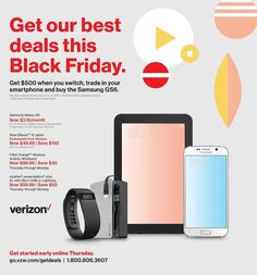 Verizon Wireless 2015 Black Friday Ad...check out the 4 pages of #BlackFriday deals.