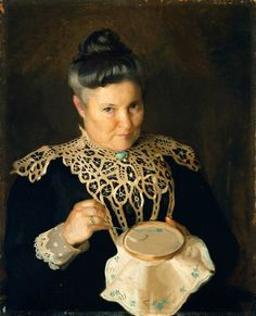 Portrait of the Artist's Mother (Rose Paxton) by William McGregor Paxton (circa 1902) Museum of Fine Arts Boston