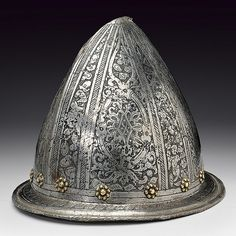 An engraved cabasset, dating: late 16th Century  provenance: North Italy