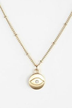 Engraved Evil Eye Necklace #urbanoutfitters